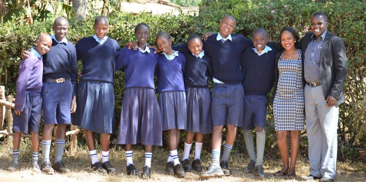 Rhope children and leaders in Kenya